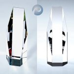 Octagon-Clear/ Color Corporate Crystal Awards