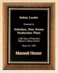 Savanna American Walnut Plaque with Embossed Back Plate Employee Awards
