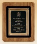 American Walnut Frame Plaque with Antique Bronze Frame Patriotic Awards