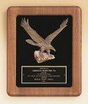American Walnut Frame Plaque with Eagle Casting Recognition Plaques