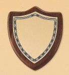 Walnut Shield Plaque Shield Plaques